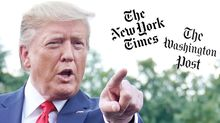 Trump Attacks NY Times and Washington Post for Advertising Being 'Way Down' — When It's Down Everywhere