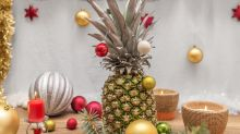 People are decorating pineapples instead of trees this Christmas
