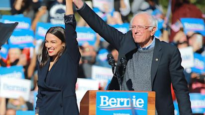 AOC throws her support behind Bernie Sanders