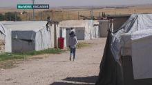 Shamima Begum avoids cameras at Syrian refugee camp