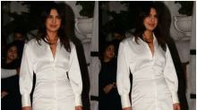 Priyanka Chopra Stuns in Satin Shirt-dress at The Sky is Pink Wrap-up Party