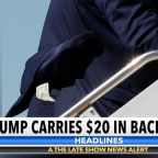 $20 Bill Almost Escapes From Donald Trump's Back Pocket