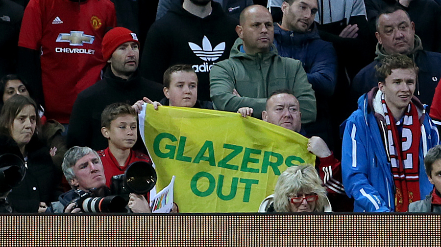 Man United fans furious with owner