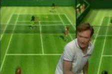 Conan takes on Serena in Wii Tennis