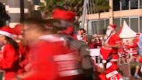 Santas hit street for charity