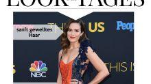 Look des Tages: Mandy Moore mit schimmernden Goldornamenten