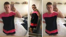Man sent home from work for wearing shorts makes comeback in a dress