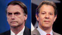 """Haddad chama Bolsonaro ao debate e ex-capitão responde que """"quem conversa com poste é bêbado"""""""