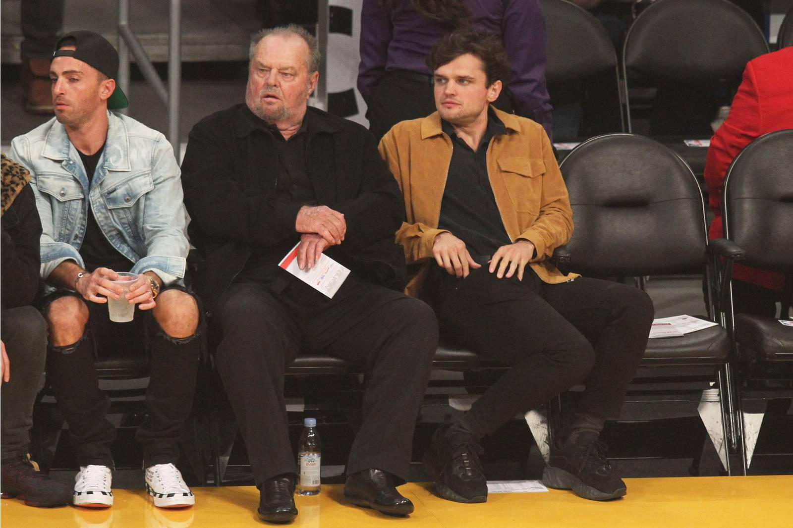 Jack Nicholson 81 Catches Lakers Game With 26 Year Old Son Ray In Rare Outing If you like it check out samuel l jackson and tony montanas songs. https www yahoo com entertainment jack nicholson 81 catches lakers game 26 year old son ray rare outing 180628786 html