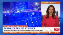 Police praising behaviour of schoolies this year