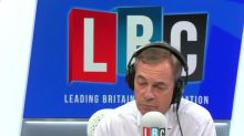 The moment Nigel Farage is pranked during radio phone-in