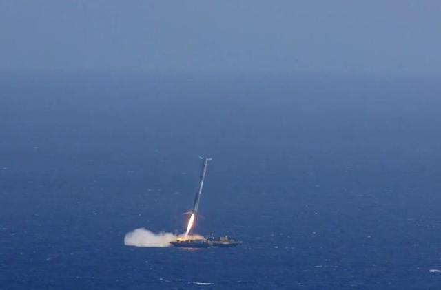 Here's video of SpaceX's rocket landing, and the explosion