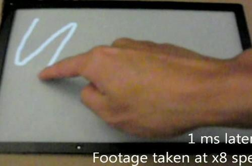 Microsoft cuts touchscreen lag to 1ms, makes other panels look silly (video)