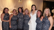 'No, we are NOT the bridesmaids': Six women wore the same dress to a wedding
