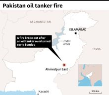 123 dead, more than 100 wounded in Pakistan oil tanker fire: official