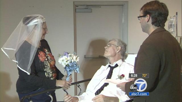 OC cancer patient marries longtime sweetheart