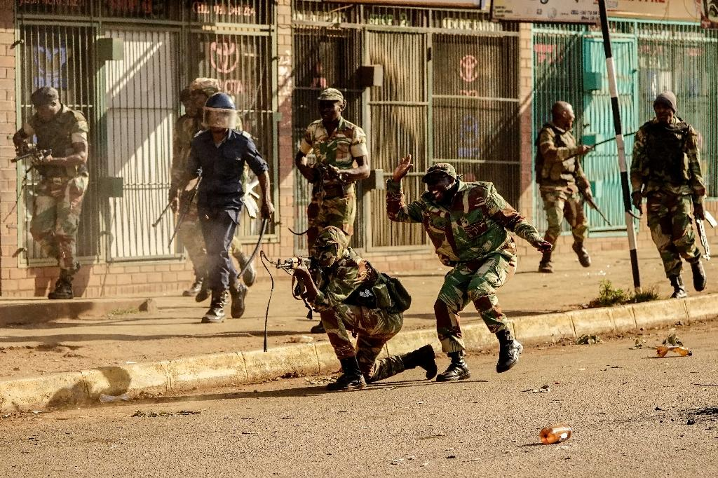 During the last major oposition protest on August 1, Zimbabwean troops killed six people when they opened fire on demonstrators rallying against the result of the July 30 election (AFP Photo/Zinyange AUNTONY)