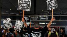 Demonstrations over reinstatement of President Trump's travel ban