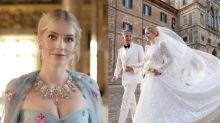 戴安娜王妃姪女Kitty Spencer的婚紗美得驚人!一共6套服裝,婚紗、晚裝都是由Dolce