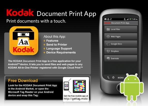 Kodak's Document Print app means never visiting the girl from the Xerox place