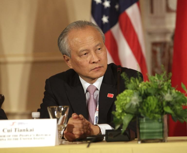 Last week, the Chinese ambassador to the United States, Cui Tiankai, made his debut on Twitter (AFP Photo/CHRIS KLEPONIS)