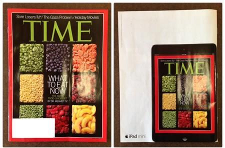 This iPad mini ad in Time is pretty fantastic