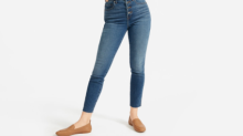 Everlane's high-rise skinny jeans now come with an exposed button fly