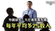 外國研究:大仔通常最有錢 平均多2%收入