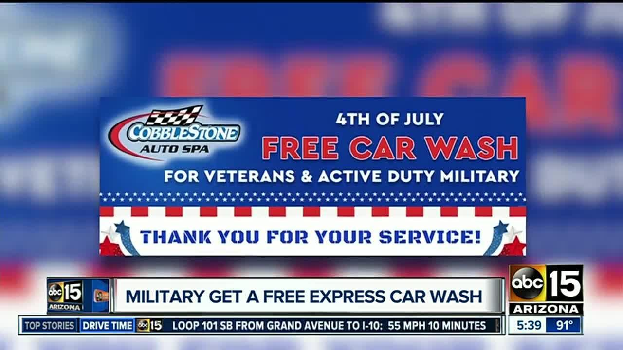 Free car wash for military members in the Valley