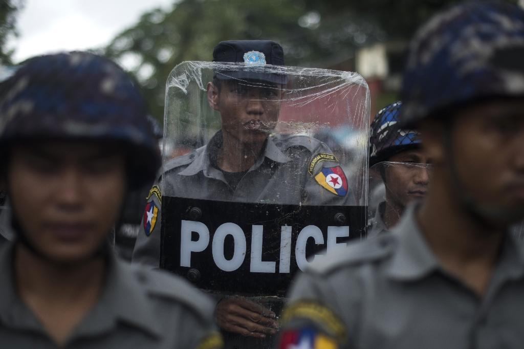 Operations in western Myanmar's Rakhine state are focused in and around Maungdaw, a town near the Bangladesh border that was among the targets of Sunday's attacks which left nine police officers dead (AFP Photo/Ye Aung Thu)