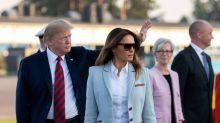 Melania Trump apuesta por un favorecedor abrigo 'pink lady'