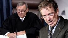 At Senate trial, chief justice again tosses out Rand Paul's whistleblower question