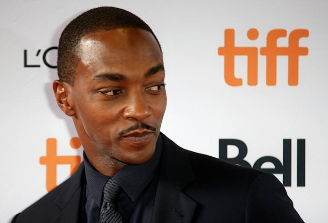 """Actor Anthony Mackie arrives for the North American premiere of """"Seberg"""" at the Toronto International Film Festival (TIFF) in Toronto, Ontario, Canada September 7, 2019.  REUTERS/Chris Helgren"""