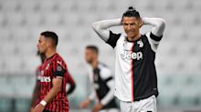 Watch Cristiano Ronaldo miss a penalty in Juventus' first match in three months