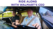 Robots, scanners, towers: Walmart CEO details new tech on a ride along