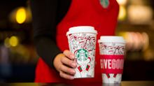 Starbucks' Christmas cups are here and there's a line-up of cheerful festive drinks