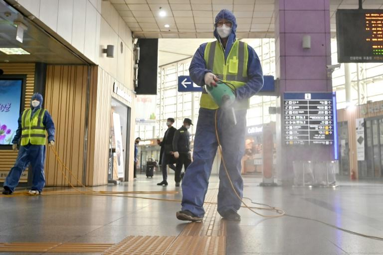 Authorities have urged the public to exercise extra caution, advising citizens to stay home if they have a fever or respiratory symptoms (AFP Photo/Jung Yeon-je)
