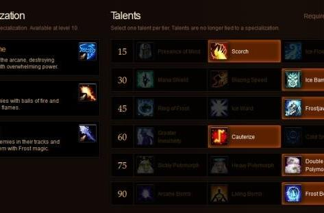 Arcane Brilliance: Blinking into the Mists of Pandaria talent calculator, the epic conclusion