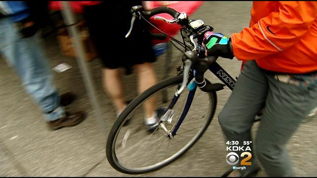 """Two-Wheeled Commuters Fill Market Square For """"Bike To Work Day"""""""