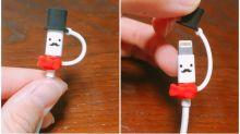 日本「手機叉電線保護套」 超可愛紳士造型Twitter熱傳
