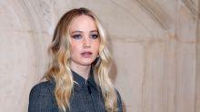 Jennifer Lawrence debuts engagement ring at Paris Fashion Week