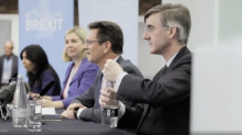 Bizarre clip shows Jacob Rees-Mogg defeated by bottle of water