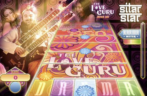 Rock the Ashram with Love Guru's web game Sitar Star