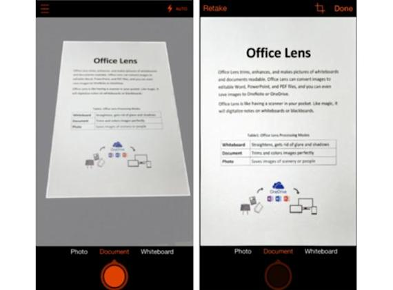 Office Lens for Android and iOS turns your phone into a scanner