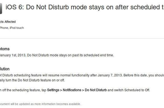 Apple acknowledges Do Not Disturb bug, says it will magically fix itself on January 8th