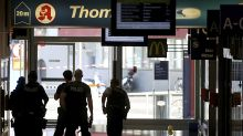 The Latest: Hostage freed at German station, man detained