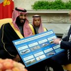 Trump says U.S. would be 'punishing' itself if it halts Saudi arms sales