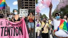 Mardis Gras crowds take over Sydney streets in protest