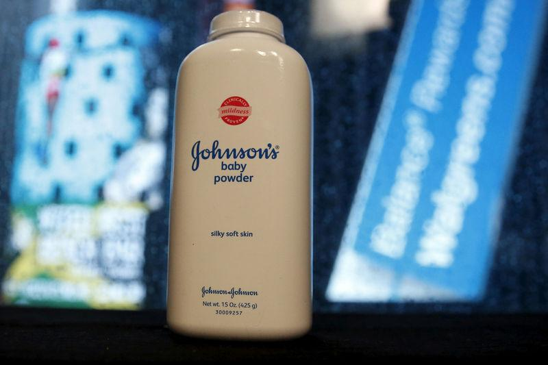 FILE PHOTO: Bottle of Johnson's Baby Powder in New York