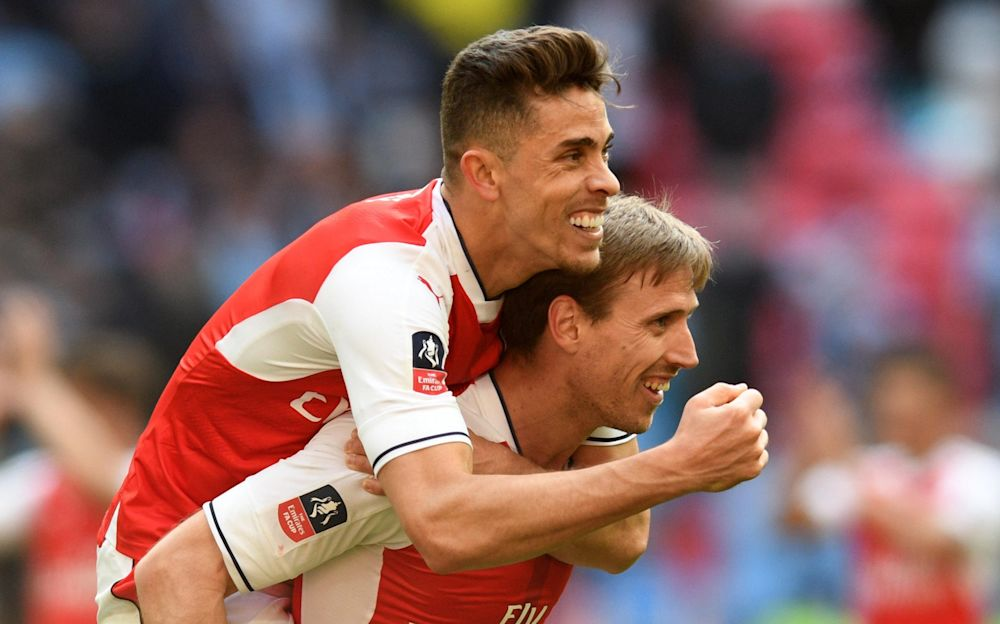 Gabriel looks far more at home in a back three - Rex Features